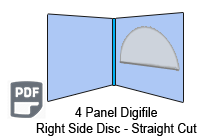 4 Panel CD digifile right hand pocket