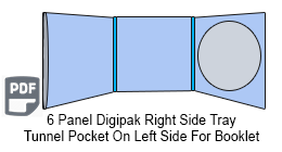 6 Panel CD Digipak 1 Disc with Tunnel Pocket