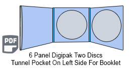 6 Panel CD Digipak 2 Disc with Tunnel Pocket