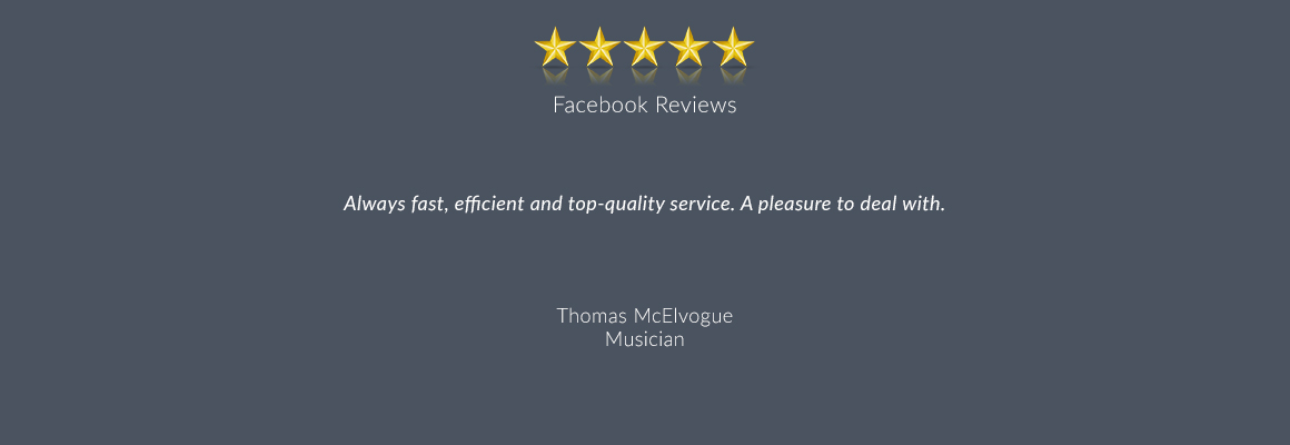 Always fast, efficient and top-quality service. A pleasure to deal with.