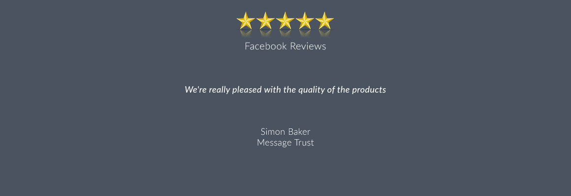 We're really pleased with the quality of the products